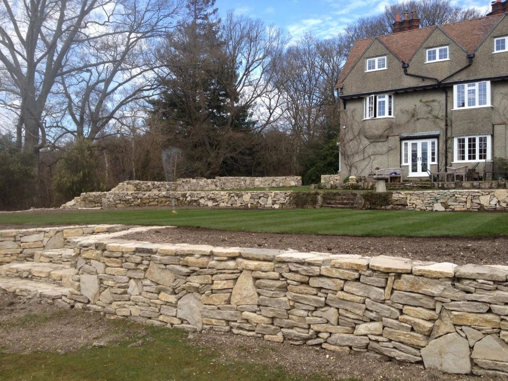 Dry Stone Walling Built New Forest