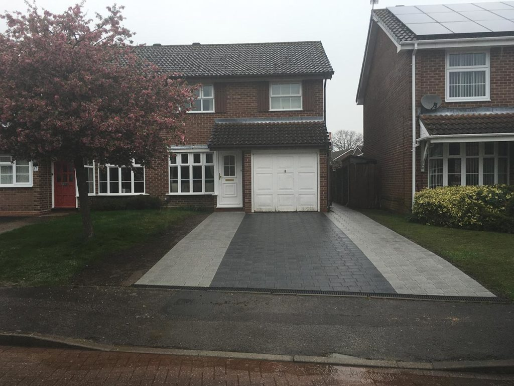 Block Paved Drive in Salisbury built by Paul Cass Landscapes