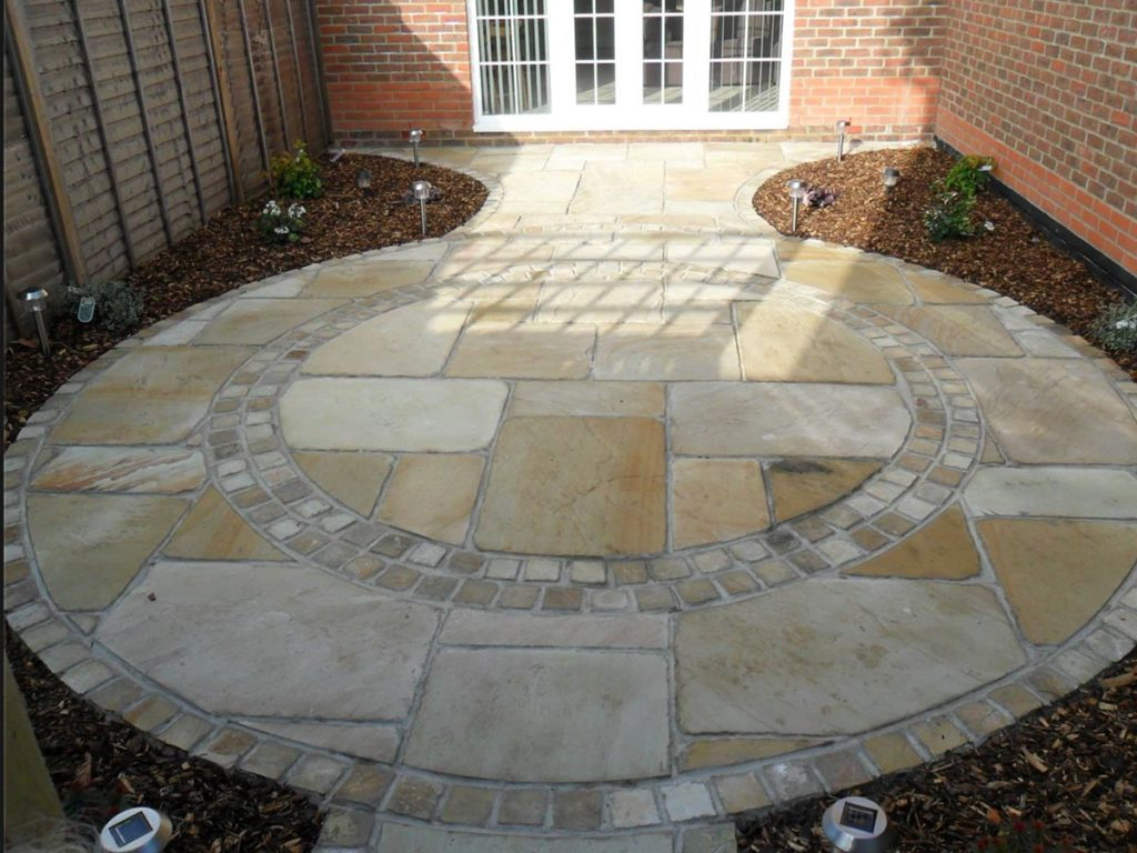 Sandstone Circle Paving in Wiiltshire Built by Paul Cass Landscapes